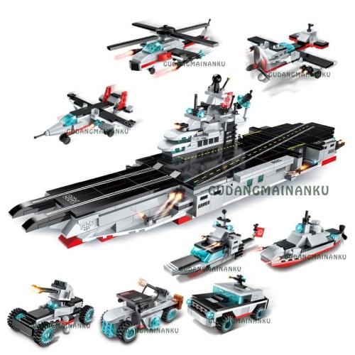 Foto Produk Lego Qman Enlighten Carrier Warship 1406 (8 macam) Pangkalan Udara dari Gudangmainanku
