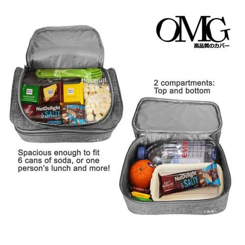 Foto Produk Lunch Cooler Bag Tas Bekal Makanan Anak Tahan Panas Dingin 2 Susun OMG dari lbagstore