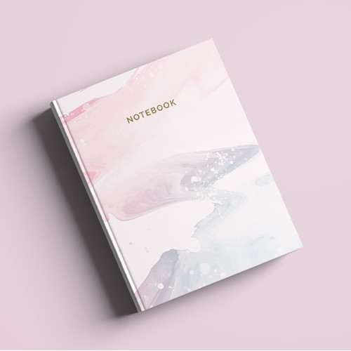 Foto Produk Notebook Custom A5 - Soft Marble - Hardcover | Journal | Planner dari The Book ID