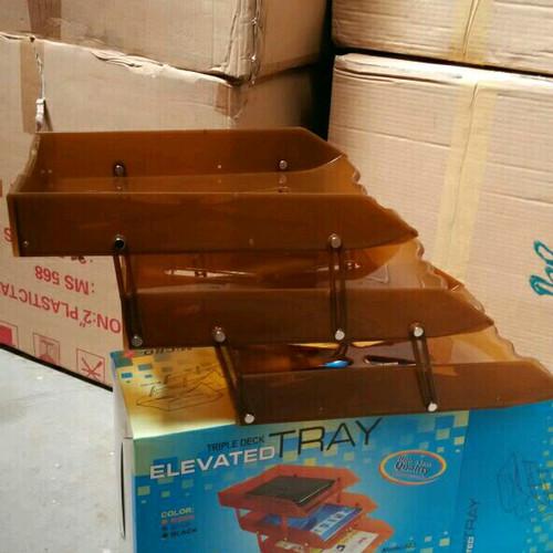 Foto Produk Elevated Tray Triple Deck Bak Surat - Letter Tray 3 Micro Top dari Belanja Bebas