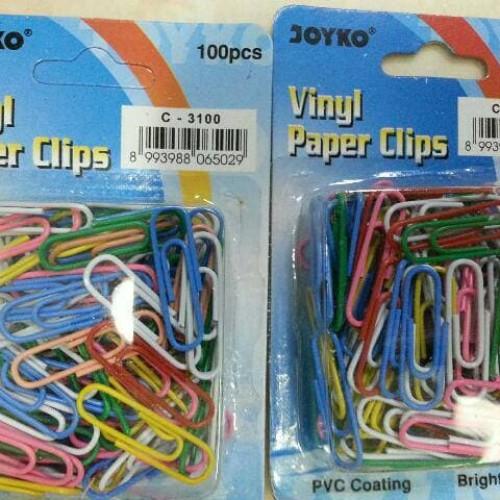 Foto Produk Paper Clip Vinyl Joyko Warna Warni dari Belanja Bebas