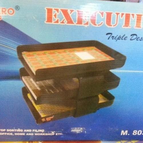 Foto Produk File Tray 3 - Rak File 3 Tingkat Executive - Deck Tray dari Belanja Bebas