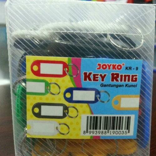 Foto Produk Gantungan Kunci Label Nama Warna Key Ring Joyko dari Belanja Bebas