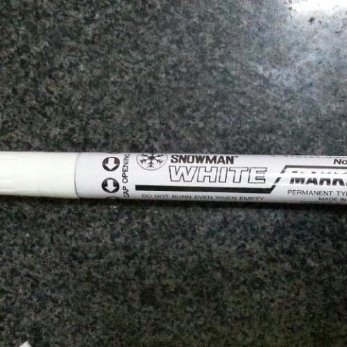 Foto Produk Snowman Spidol Permanent Marker White - Spidol Putih dari Belanja Bebas