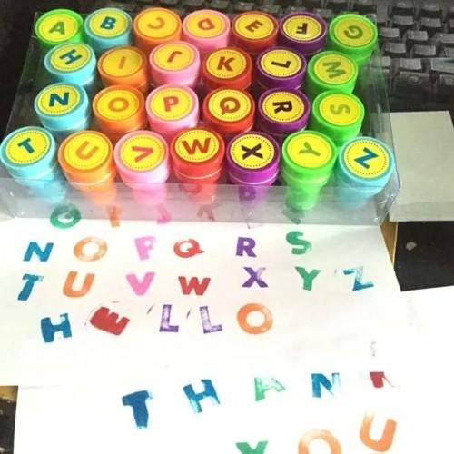 Foto Produk Mainan Anak 26pcs STAMP/STEMPEL Lucu dan Unik Buat Cap - Emoticon dari lovely kayy