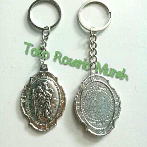 Foto Produk liontin gantungan kunci Santo Kristoforus dari Rosario murah