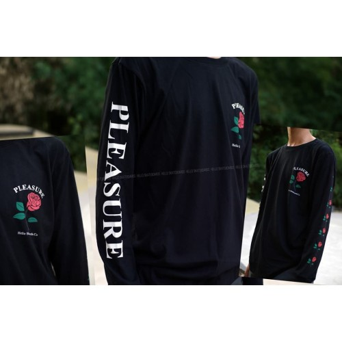 Foto Produk Tees Pleasure Long Sleeve Black dari Hello Skateboards