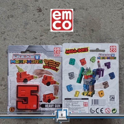 Foto Produk Emco POCKET MORPHERS - Number 5 Robot Transformers Angka Combiner dari Toysgraphy