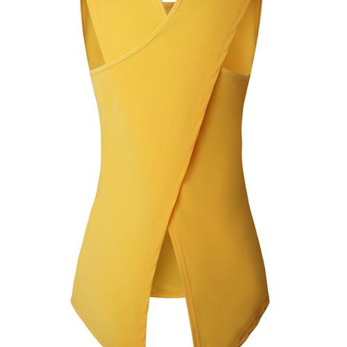 Foto Produk Aute Women Solid Color Back Cross Irregular Hem Sleeveless dari jual celana pria terbaru