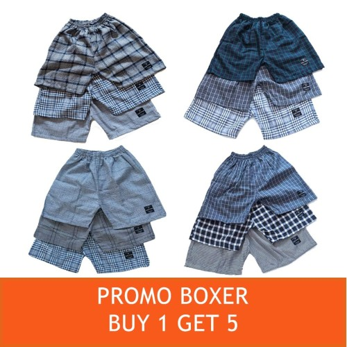 Foto Produk Cottonology Promo Boxer Buy 1 Get 5 - XXL dari Cottonology Indonesia