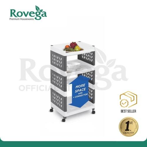 Foto Produk Rovega Supra Rak Susun 3 Tingkat dengan Roda Premium 3 Tier Rack dari ROVEGA OFFICIAL STORE