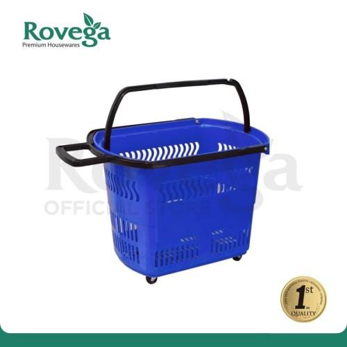 Foto Produk Rovega Premium Keranjang Belanja Troli / Trolley Basket BAS-01 (BIRU) dari ROVEGA OFFICIAL STORE