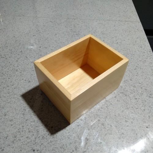 Foto Produk Nampan Mini / Tray Mini / Baki Kayu Pinus Mini Serbaguna 10 x 7 x 6,5 dari el_artgallery