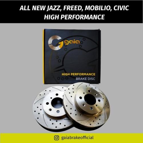 Foto Produk Brake Disc Rotor GAIA High Performance JAZZ FREED CITY MOBILIO dari NEW INTI OTOPART BANDUNG