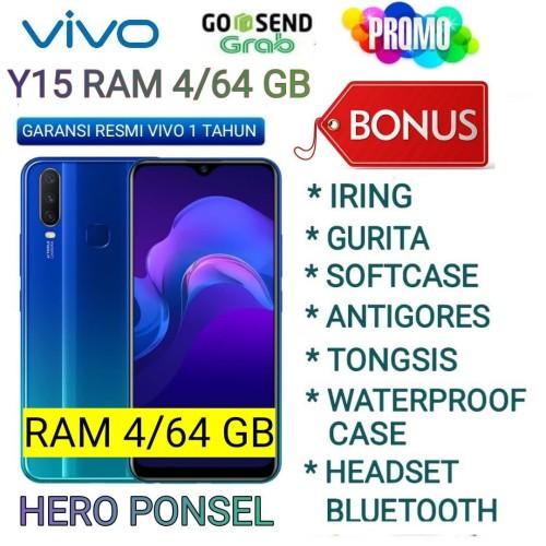 Foto Produk VIVO Y15 RAM 4/64 GB GARANSI RESMI VIVO INDONESIA - Merah No Bonus dari HERO PONSEL.