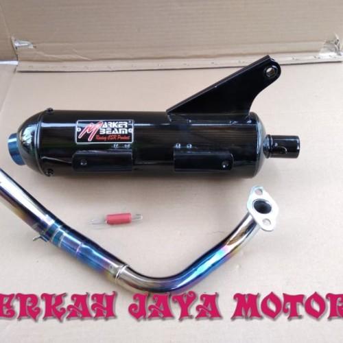 Foto Produk KNALPOT RACING BOBOKAN BEAT STREET MODEL TSUKIGI LEHER BLUE dari oos motor