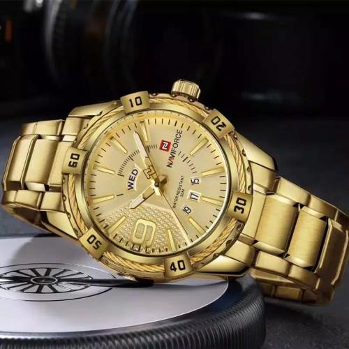Foto Produk naviforce Original, Jam tangan pria, rantai, water reisis 3ATM dari electro Msn