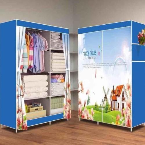 Foto Produk HAPPYHOUSE 2018 Multifunction Wardrobe lemari pakaian rak baju dari Raka Here_shop