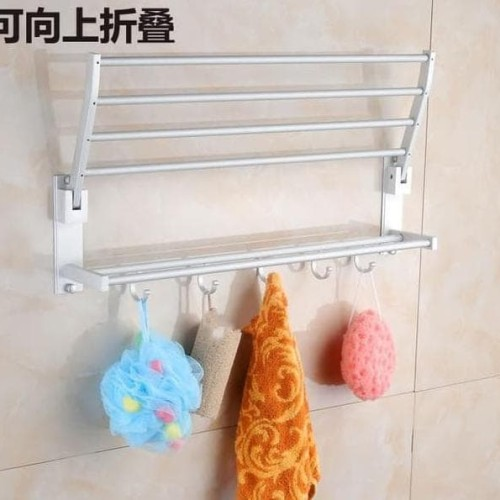 Foto Produk Rak Handuk Dinding Toilet Aluminium A345 dari Raka Here_shop