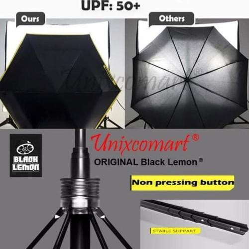 Foto Produk Mini Pocket Umbrella / Payung Lipat Super Mini / Black Lemon dari Raka Here_shop
