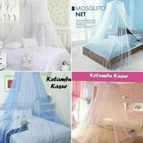 Foto Produk Kelambu Gantung Kasur Anti Nyamuk / Klambu Tirai Bulat Tempat Tidur dari Raka Here_shop
