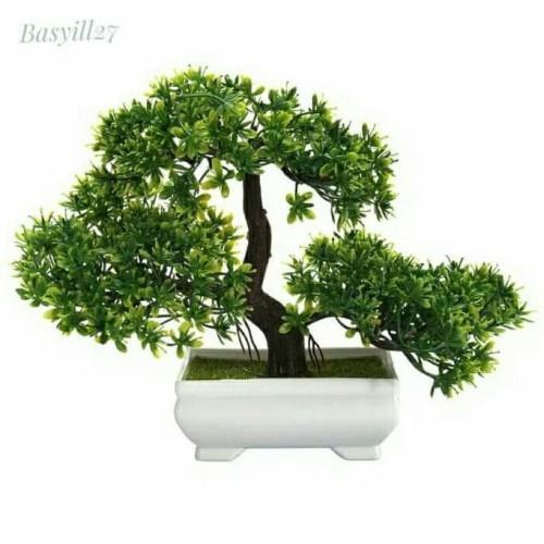 Foto Produk bonsai palsu kotak / tanaman artificial / bunga plastik / dekorasi dari Raka Here_shop