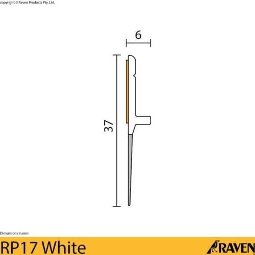 Foto Produk Raven Door Bottom Seal RP 17 White / Seal penutup celah bawah pintu dari Raka Here_shop