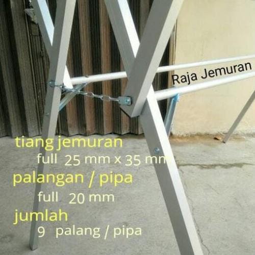 Foto Produk Jemuran Baju Aluminium 175 cm + Hangger dari Raka Here_shop