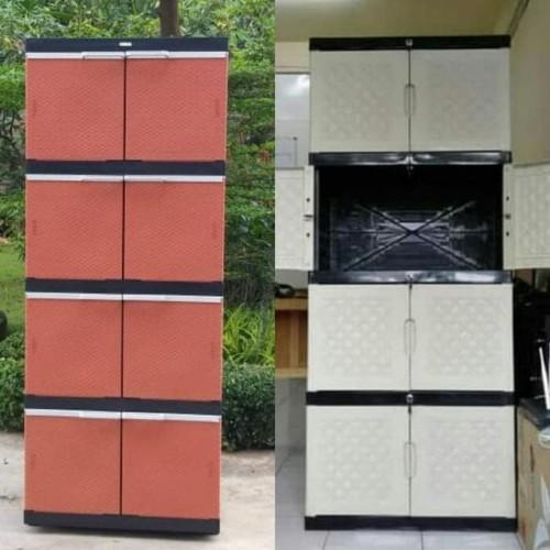 Foto Produk LEMARI PLASTIK / LEMARI PAKAIAN / RAK SREBAGUNA ELEGANT SSN 4 dari Raka Here_shop
