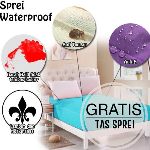 Foto Produk sprei water proof 180 x 200 murah anti air bocor ompol IMPORT KING dari Raka Here_shop