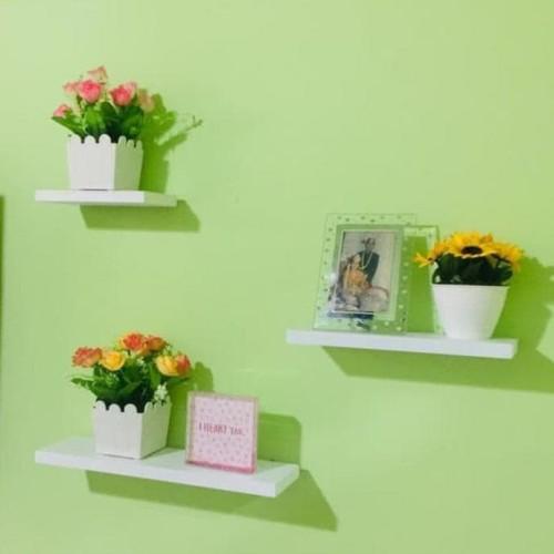 Foto Produk 3 pcs rak dinding rak gantung floating shelves dari Raka Here_shop