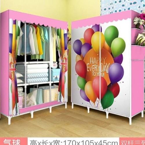 Foto Produk lemari pakaian rak baju jumbo multifunction R-08 dari Raka Here_shop