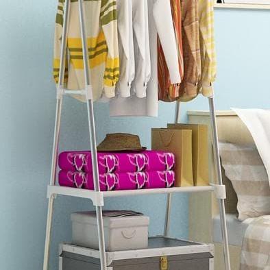 Foto Produk HB404 Triangle Stand hanger rak buku Serbaguna dengan 4 roda dari Raka Here_shop