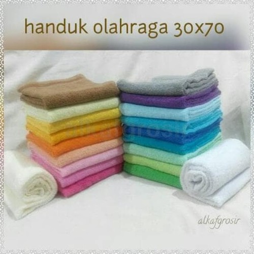 Foto Produk Handuk Olahraga | Muka 30x70cm 100% katun CARDED Halus Lembut Nyerap dari Raka Here_shop