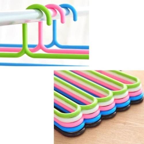 Foto Produk hanger susun 5 laundry gantungan multifungsi Scarf dari Raka Here_shop