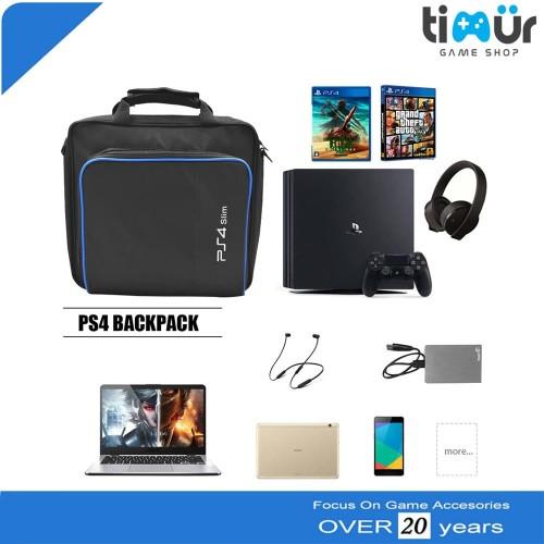 Foto Produk Tas Travel Carry Case Storage Bag PS4 Slim Carrying Cotton Shoulder dari Timur Game Shop