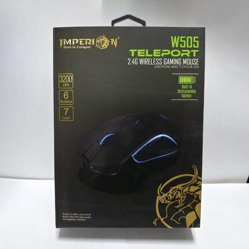 Foto Produk Imperion W505 Teleport Mouse Wireless RGB RECHARGABLE Pakai Charger dari scriptechnology