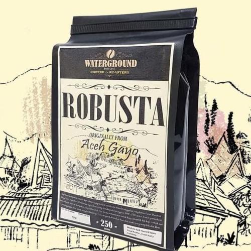 Foto Produk HOT SALE Kopi Robusta Aceh Gayo 250 grams (Biji/Bubuk) Coffee (Beans / dari jenifferlee