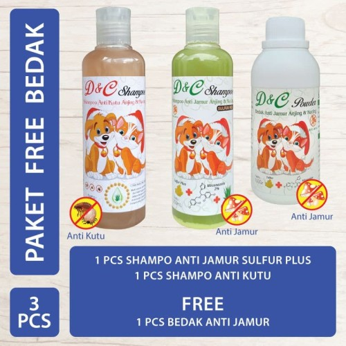 Foto Produk D&C Shampo Anti Kutu & Shampo Anti Jamur SP Free Bedak Anti Jamur dari Produkkita