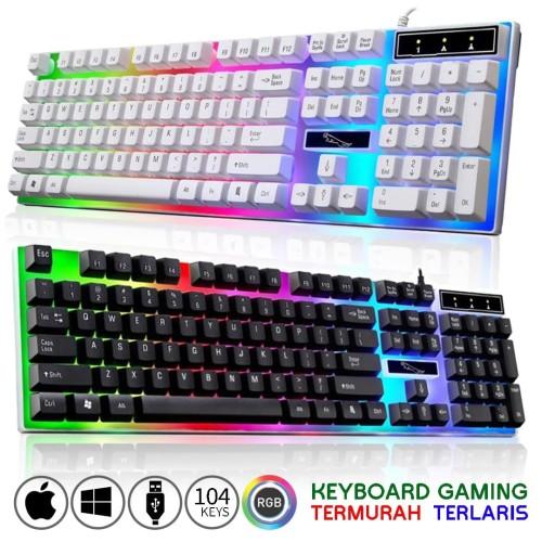 Foto Produk Keyboard Gaming G21 LED Backlight Fullsize Murah (not RGB) - Hitam dari gs.corner