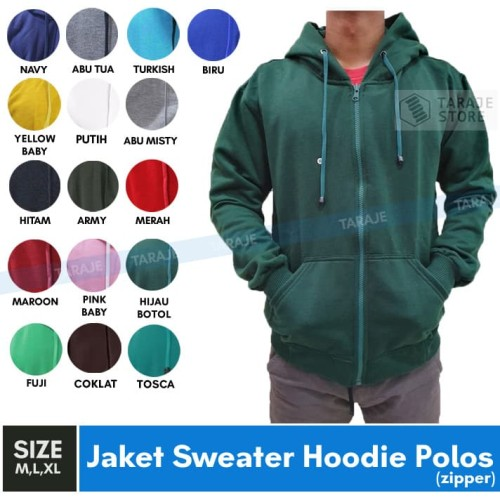 Foto Produk Jaket Sweater Polos Hoodie Zipper/Resleting dari TARAJE