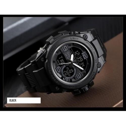 Foto Produk Jam Tangan Pria Digital Analog SKMEI 1452 BLACK Water Resistant 50m dari SKMEI OFFICIAL STORE