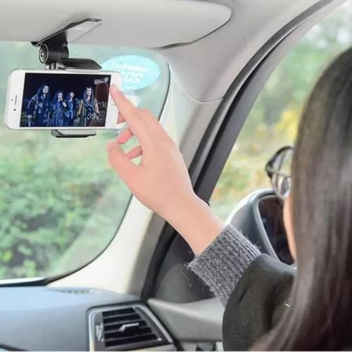 Foto Produk Car Holder HP Phone Stand Dudukan Handphone GPS Jepit Sunvisor Mobil dari Karlina Online