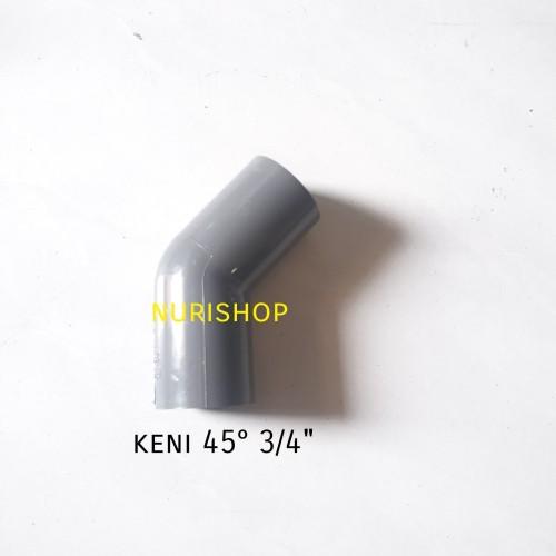 "Foto Produk Elbow 45 derajat 3/4""/ knee/ keni/ knie/ kenie pvc AW 45 x 3/4"" dari nurishop surabaya"