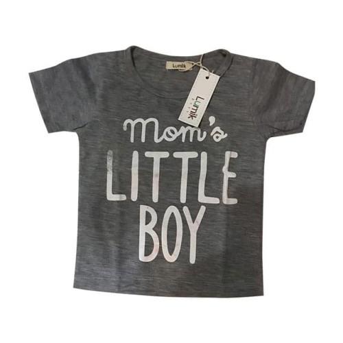 Foto Produk Lumik Momas Lil Boy Grey Tee Special Store - 5-6 thn dari Lumik Baby Shop