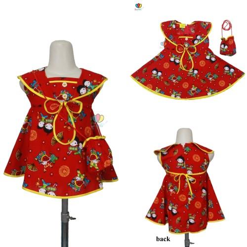 Foto Produk (BOY&GIRLS) Baju Imlek uk Bayi s.d 5 Tahun / Dress Cheongsam Sanghai - 3 tahun, Setelan Celana dari ZR-Vedia