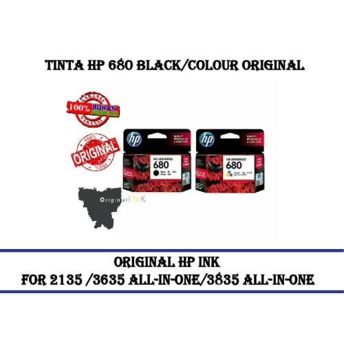 Foto Produk Hp 680 Black/colour Catridge Printer Original - Hitam dari CCK2303