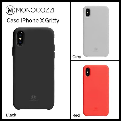 Foto Produk Monocozzi Case iPhone X Shock Protection - Gritty - Red dari Originalroom