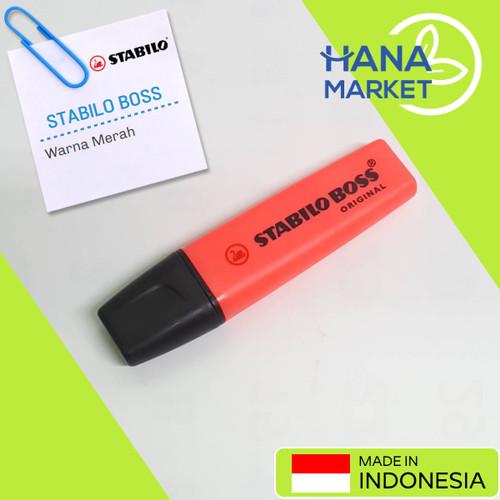 Foto Produk Stabilo Boss Original Warna Merah / Hana Market dari Hana Market