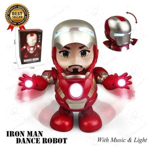 Foto Produk AVENGERS IRON MAN SMART DANCE ROBOT SUPER HERO LD155A 0- MAINAN ROBOT dari Happy Toys